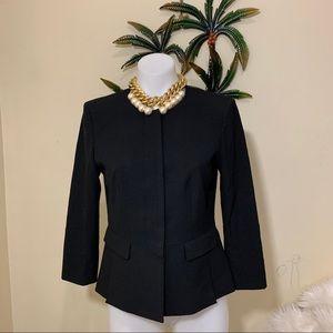 Ann Taylor black cropped 1/4 sleeve blazer